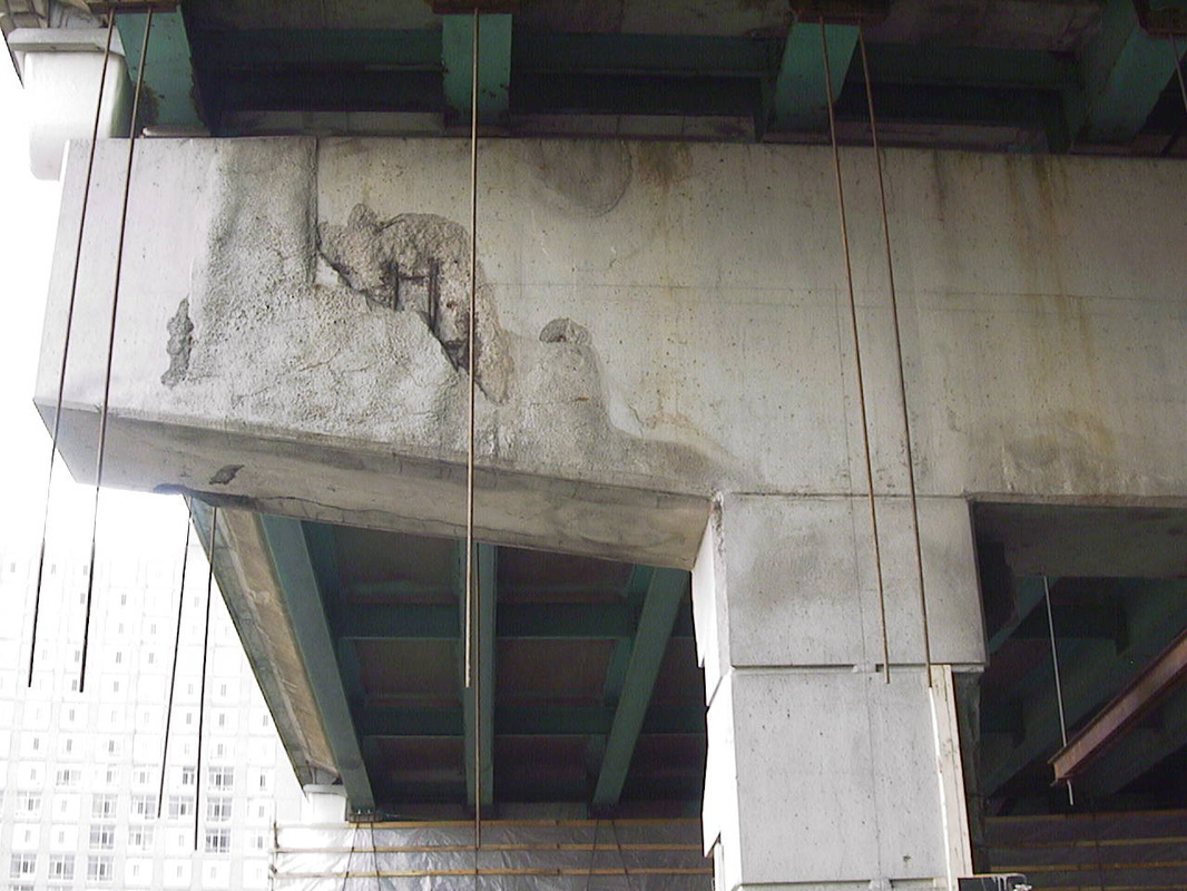 Reinforcing steel corrosion is the most common cause of failure in concrete structures steel corrosion is an oxidation process requiring the presence of